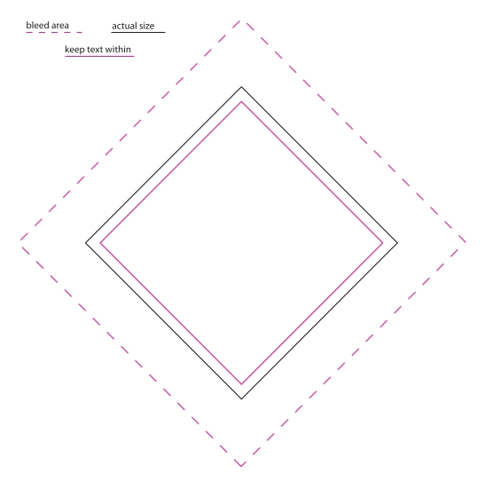 1.75 x 2.75 Diamond Magnet Template