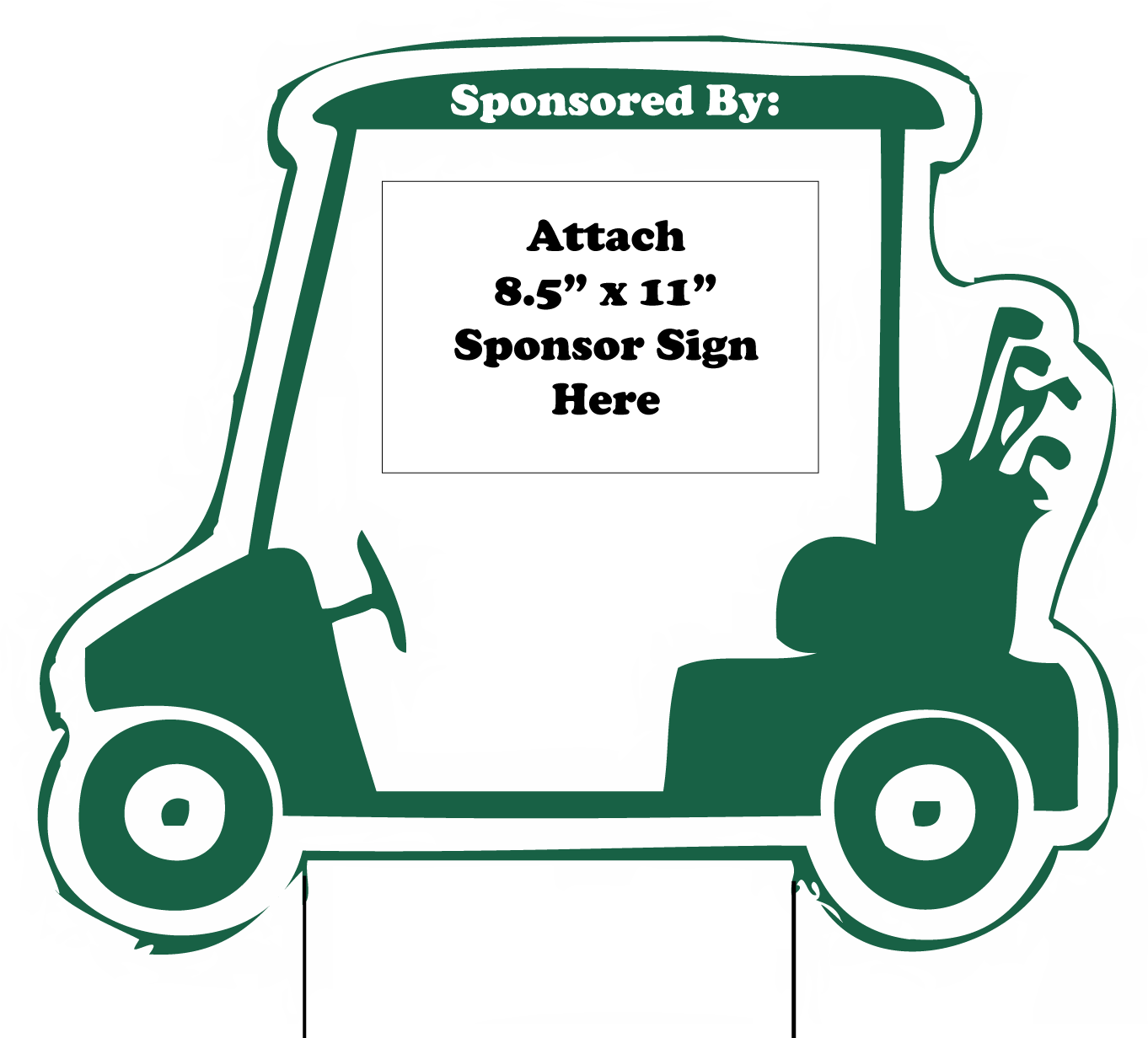 golf cart sponsor sign